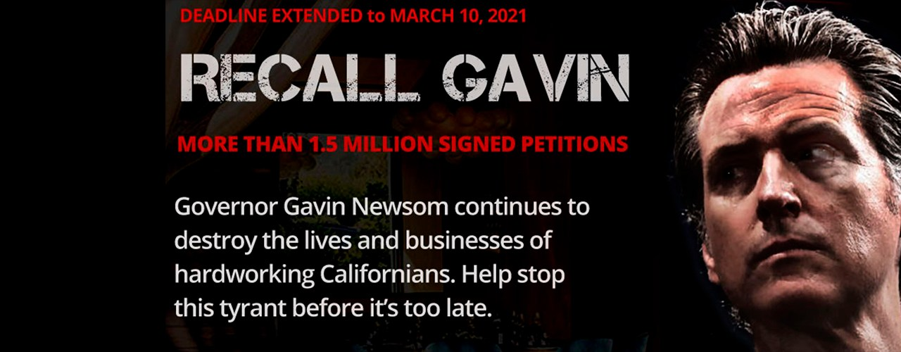 Recall Gavin 2020 Campaign<BR>Reaches 1,825,000 Signatures