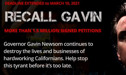 Recall Gavin 2020 Campaign<BR>Reaches 1,825,000 Signatures