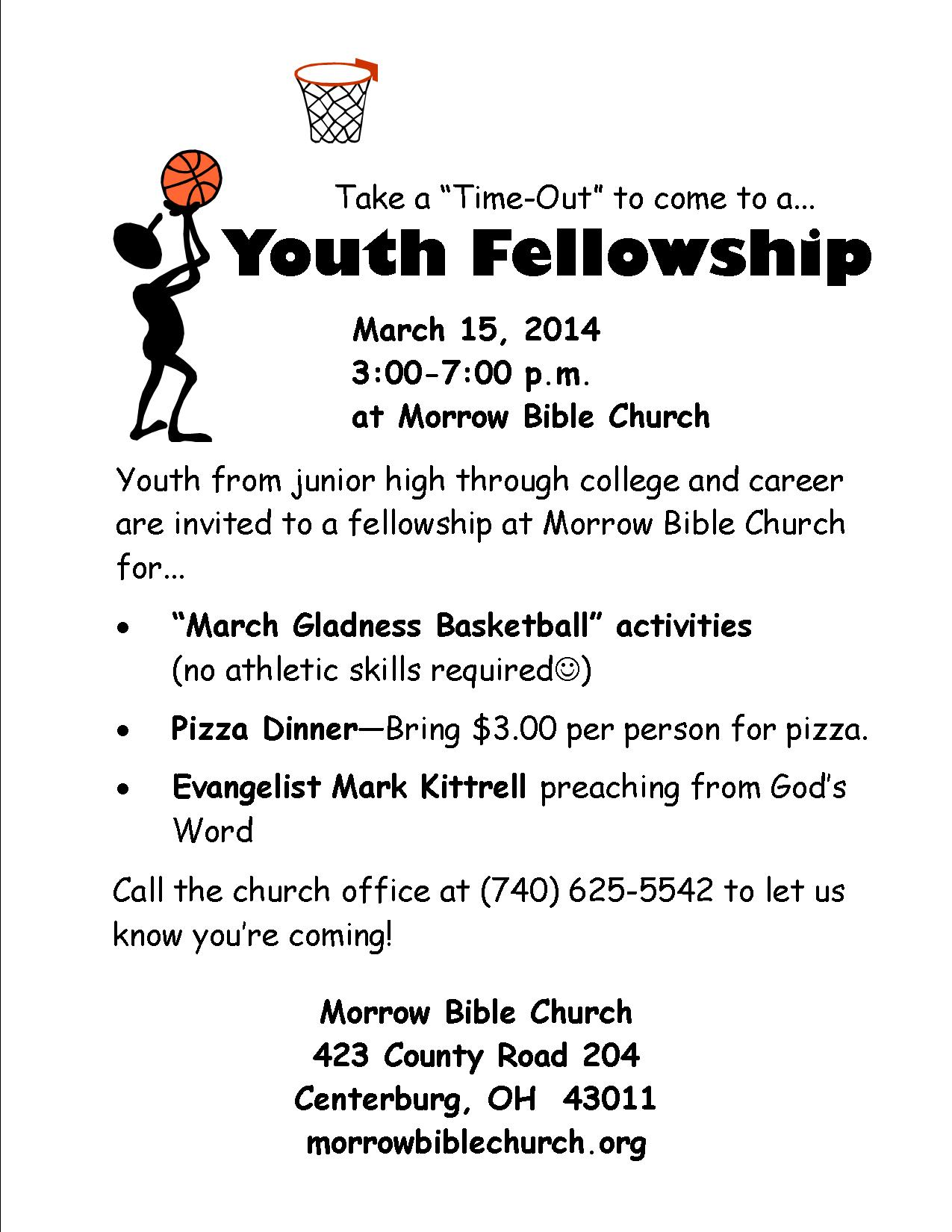 Youth Fellowship March 15
