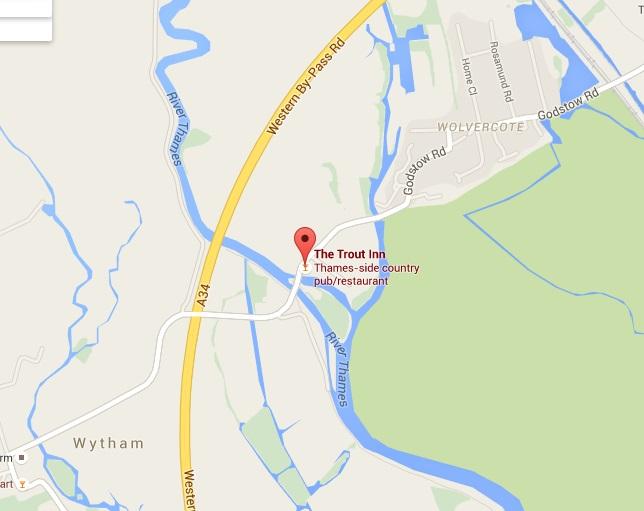 trout inn wolvercote map