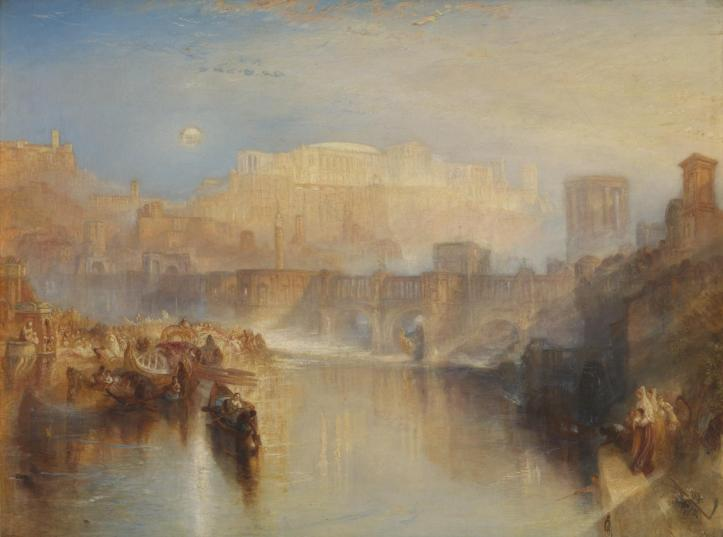 Ancient Rome; Agrippina Landing with the Ashes of Germanicus exhibited 1839 Joseph Mallord William Turner 1775-1851 Accepted by the nation as part of the Turner Bequest 1856 http://www.tate.org.uk/art/work/N00523