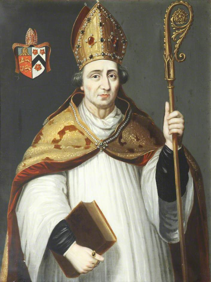 unknown artist; William Smyth, Bishop of Lincoln, Founder, Chancellor of the University (1500-1503); Brasenose College, University of Oxford; http://www.artuk.org/artworks/william-smyth-bishop-of-lincoln-founder-chancellor-of-the-university-15001503-221742