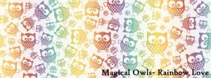 Natibaby Magical Owls Rainbow Love 100% katoen