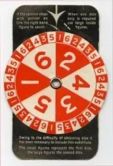 Old Monopoly spinner used during war shortage years