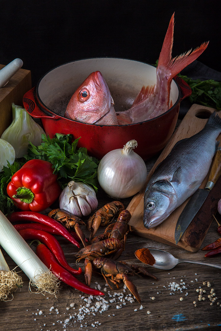 Seafood photography still life from mortar-and-pestle.ca