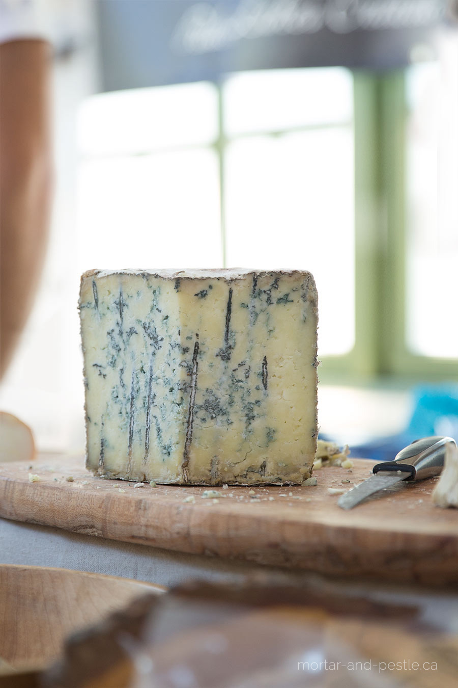 Highland Blue cheese from Back Forty Artisan Cheese.
