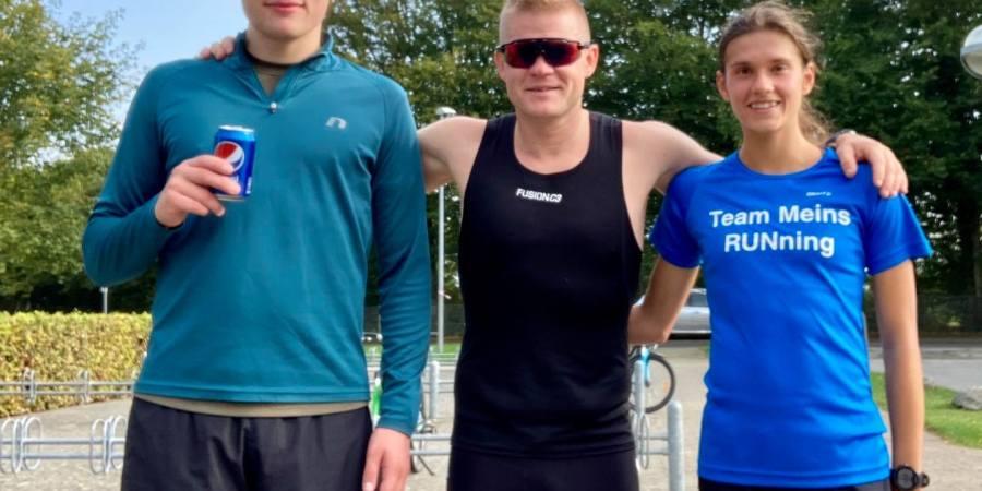 Mig, Kasper Rhinstrøm og Cecilie Schmidt Marcimak til Meins Running Løbet