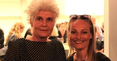 Bodil Alling og Mette Rønne til åbningen af :DANISH+