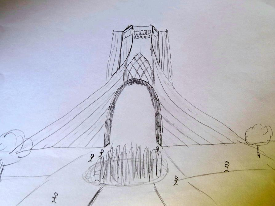 sketch, Freiheitsturm, Teheran