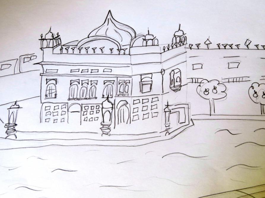 sketch, Goldener Tempe, Amritsar