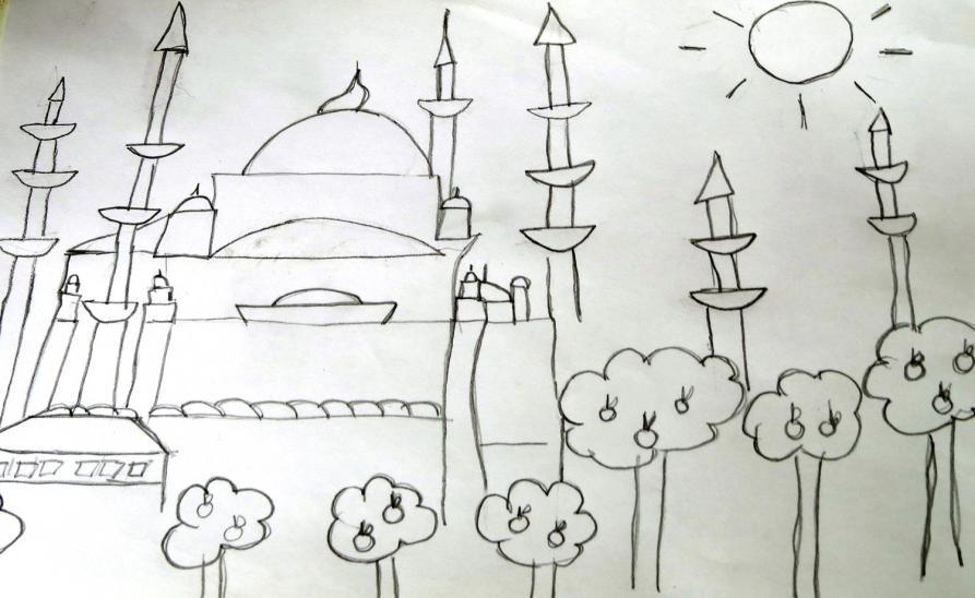 sketch, Blaue Moschee, Istanbul