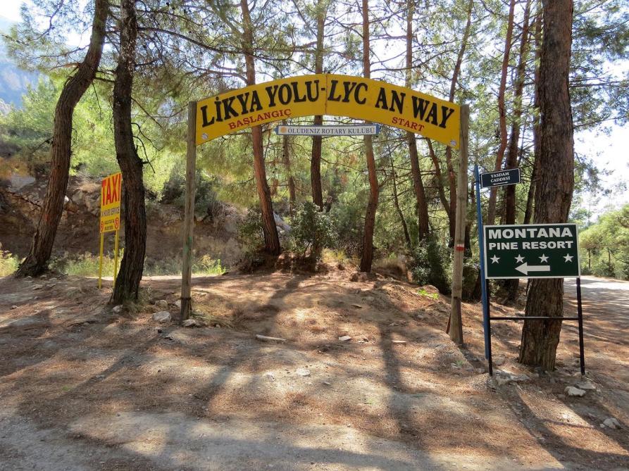 Beginn des Lykischen Weges, Ovacık, Ölüdeniz