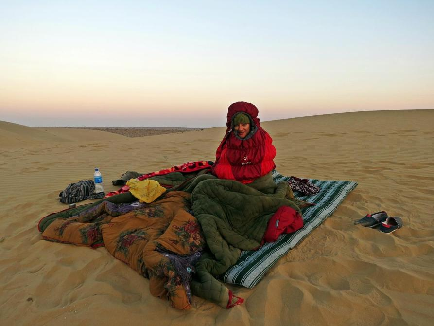 Nachtlager in der Wüste, Rajasthan