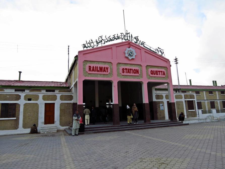 Bahnhofsgebäude in Quetta, Beluchistan, Pakistan