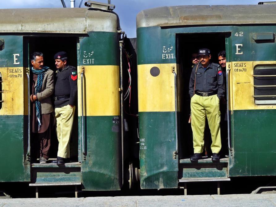 bewachter Zug in Quetta, Beluchistan, Pakistan