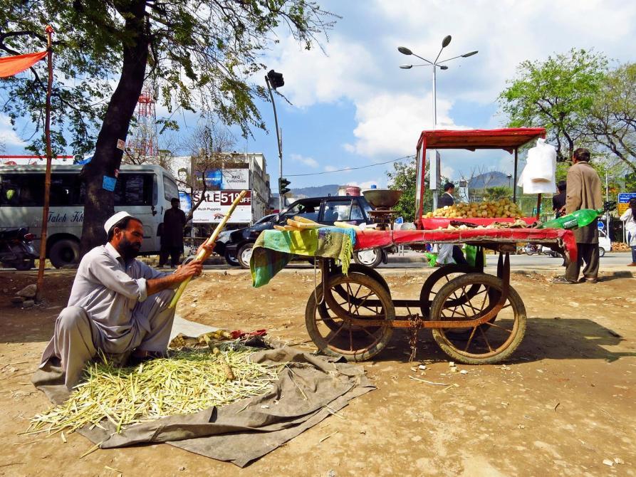 Zuckerrohrverkäufer