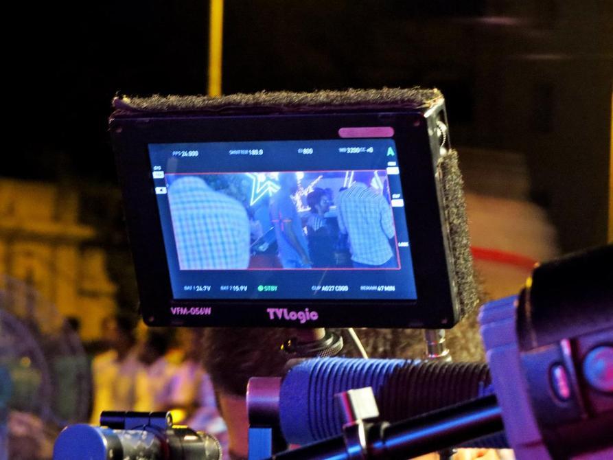 Filmszene im Kameradisplay, Kollywood