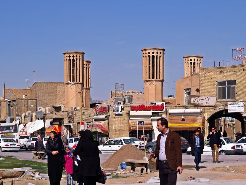 Windtürme über der Altstadt von Yazd