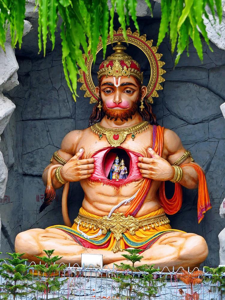der hinduistische Affengott Hanuman