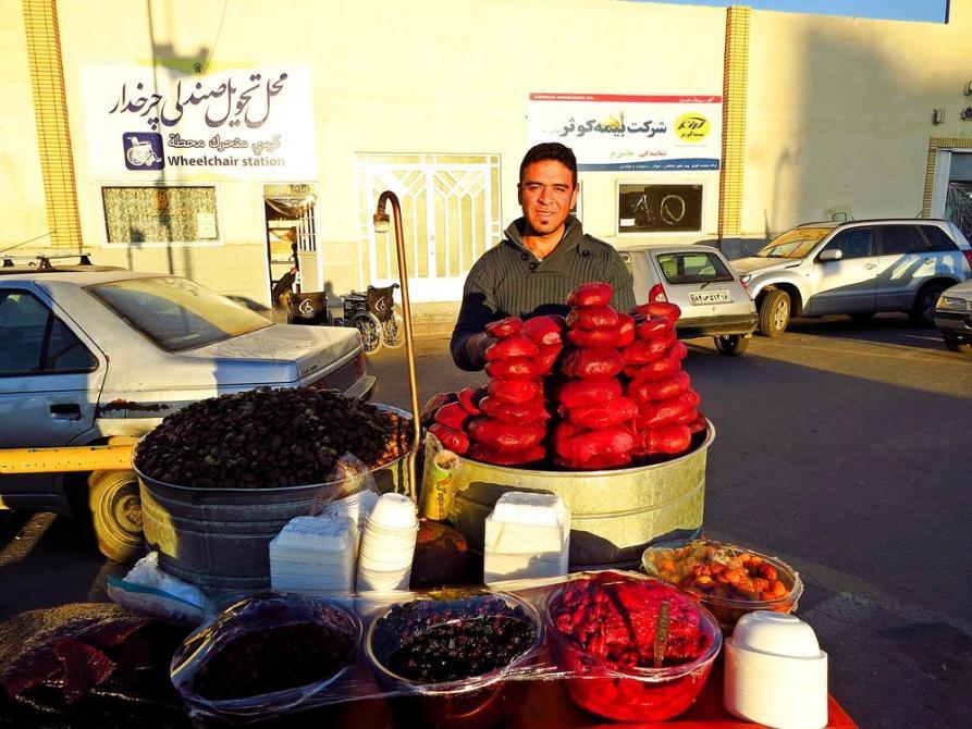 Rote Beete-Verkäufer in Ghom