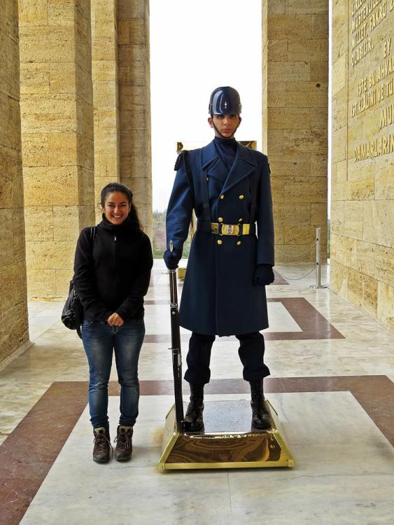 Wachpersonal am Mausoleum Atatürk