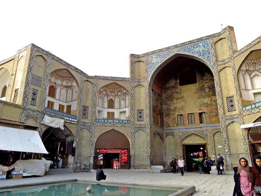 Haupteingang zum Basar-e Bozorg, Isfahan, Iran