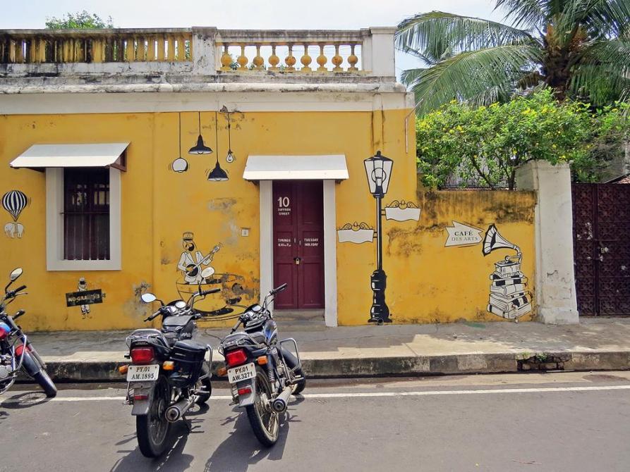 Streetart in Pondicherry im Süden Indiens