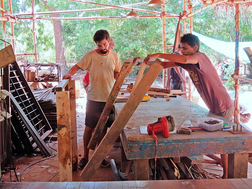 Tischerwerkstatt in Sacred Groves, Auroville