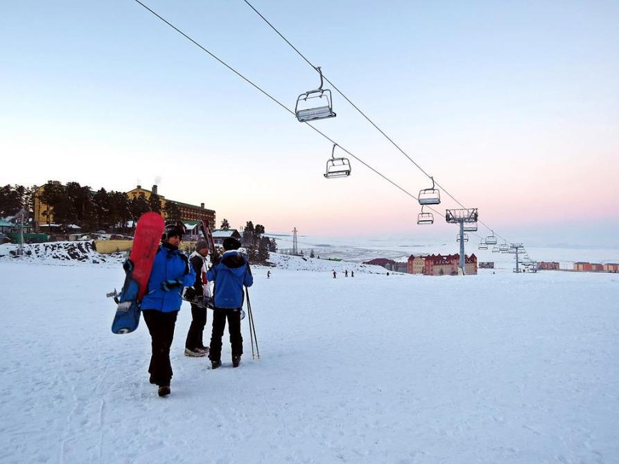 Skigebiet, Kars, Türkei