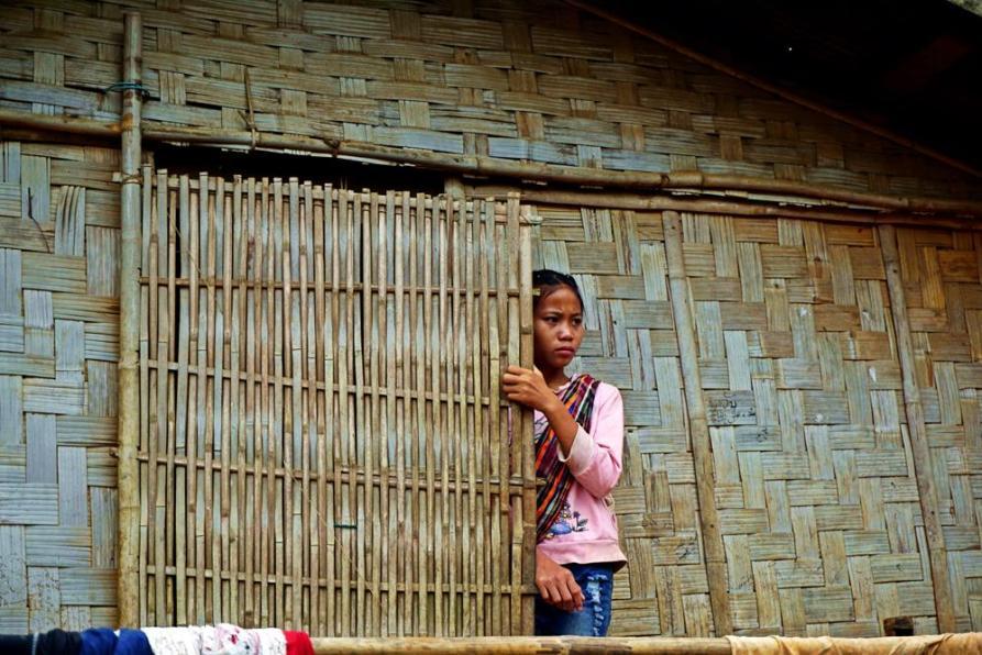 Khmu Dorf, Mekong, Laos