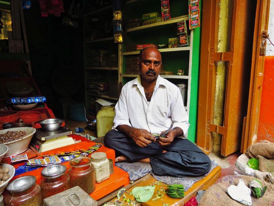 Paan Verkäufer in Varanasi
