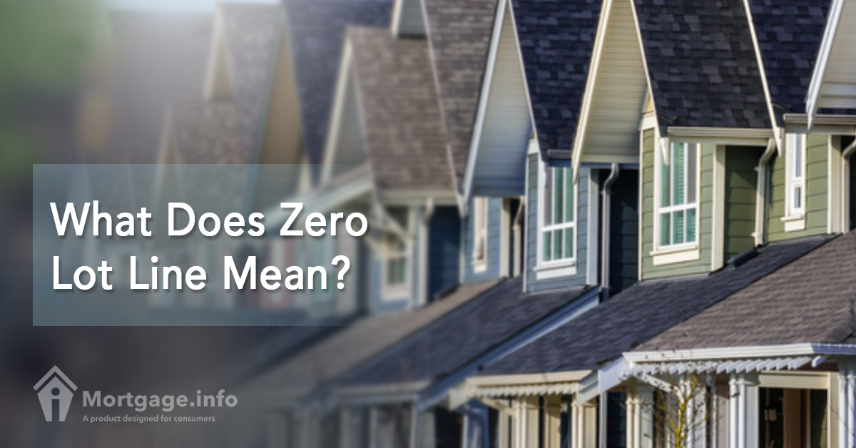 One million is also referred to as one thousand thousand, and a comma is used to separate the digits. What Does Zero Lot Line Mean? - Mortgage.info