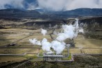 Nesjavellir geothermal plant. Pipes carry hot water to nearby villages.