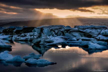 Midnight at Jokulsarlon
