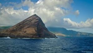 Rock in Nuku Hiva bay