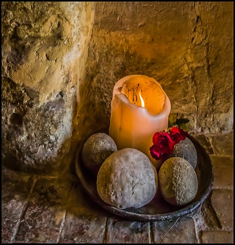 Candle in a cave