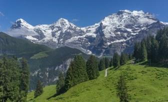 Eiger, Moench and Jungfrau Peaks