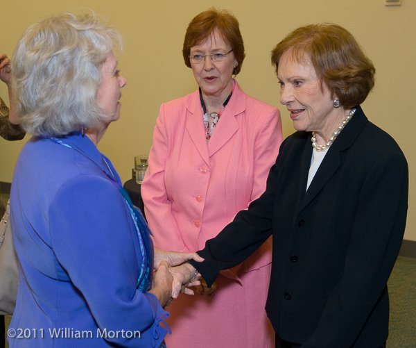 Former First Lady Rosalyn Carter greets VIPs at the American Psychological Association (APA) conference in San Diego, CA.