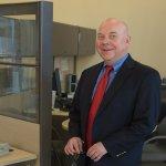 Executive portrait of bank branch manager Ron Davis