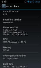 CyanogenMod 10.1.2 pe Samsung Galaxy S1 GT-i9000 (3)