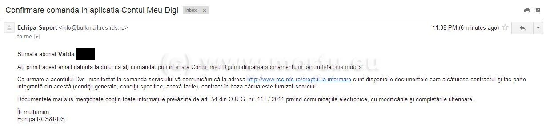 Comanda telefoane online RCS RDS - Comanda pe mail