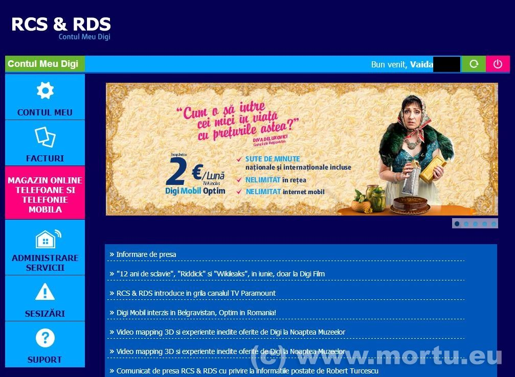 Comanda telefoane online RCS RDS - Magazin Online