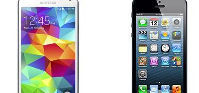 samsung s5 si iphone 5s