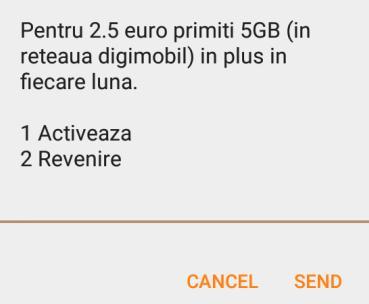 Extraopţiune DigiMobil - 5GB de net