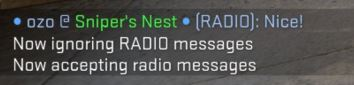 Ignore pe comenzi radio in CSGO
