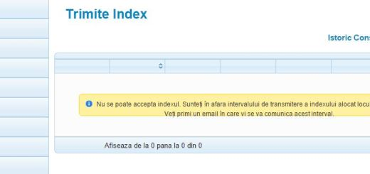 Electrica - trimit eu index-ul fail