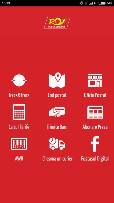 Aplicatie Android iOS Posta Romana