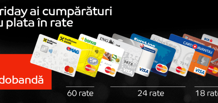 Black Friday 2017 eMAG - plata in rate