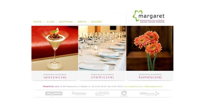 Margaret - komponenty do produkcji spożywczej, chemicznej, kosmetycznej