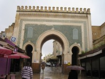 Bab Bou Jeloud archway in Fes